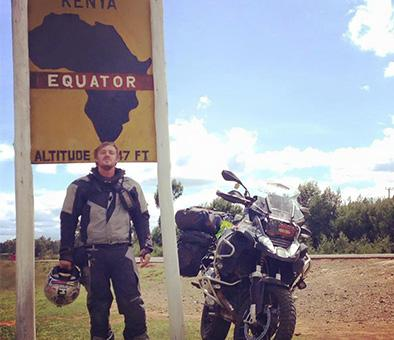 Photo of me in Africa with my motorbike