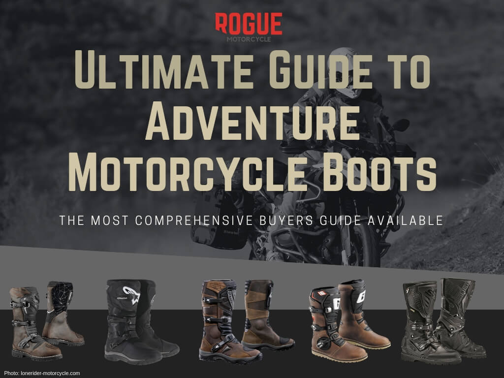 Image of a biker and motorcycle boots